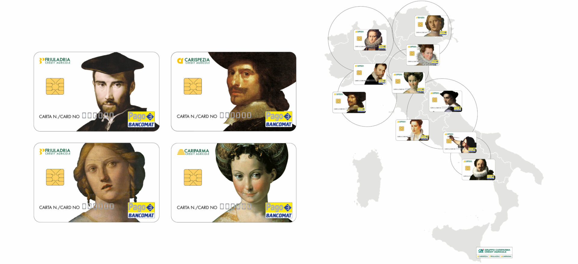 Credit cards | Graphic Design | Branding | Cariparma | Mario Trimarchi Design | Fragile