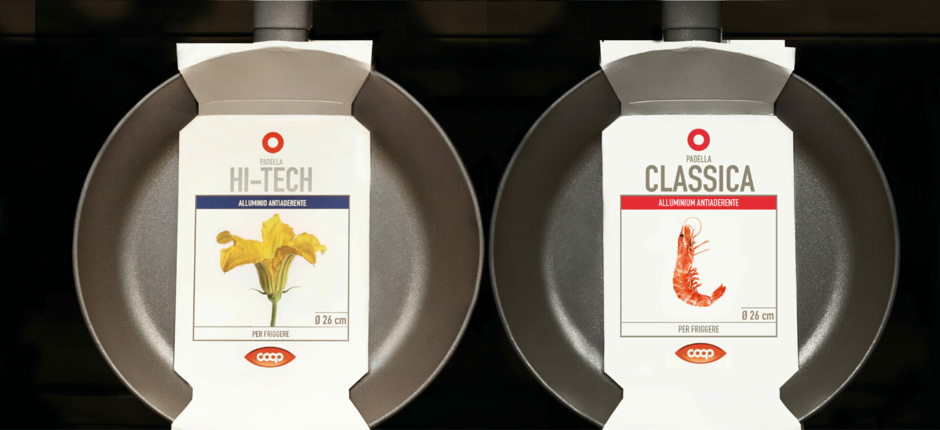 Frying pan packaging | Graphic Design | Branding | Coop Italia| Mario Trimarchi Design | Fragile