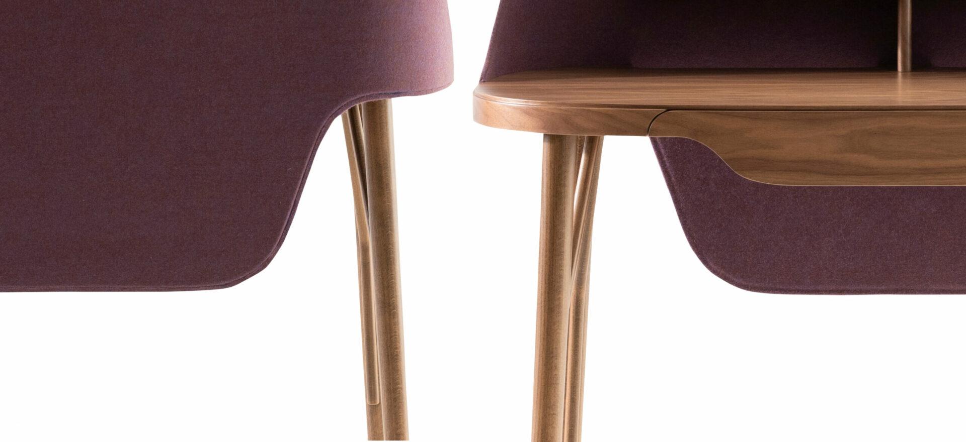 LUNEDI_Addo_workstation_home office_details_sound-absorbing fabric_Mario Trimarchi Design