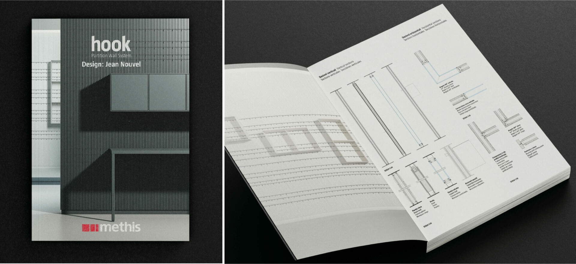 Logo | Graphic Design | Branding | Jean Nouvel Hook Catalogue | Methis | Mario Trimarchi Design | Fragile