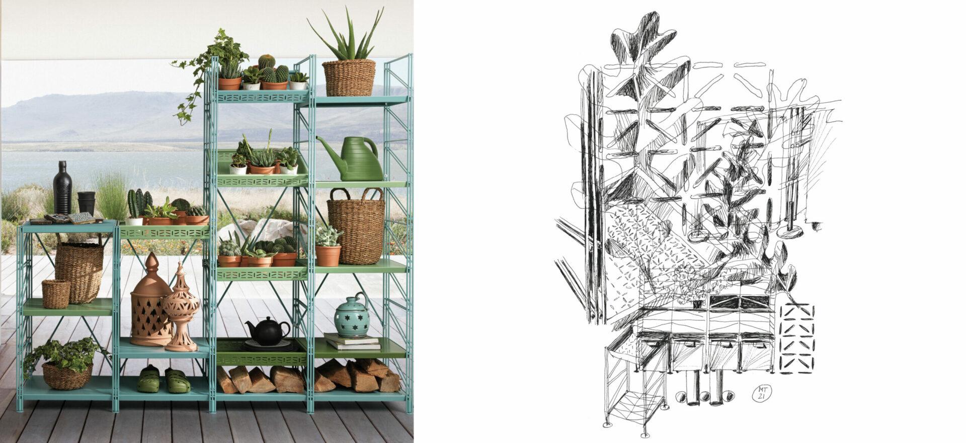 Socrate Outdoor_Outdoor Furniture_Caimi__drawing_Mario Trimarchi Design