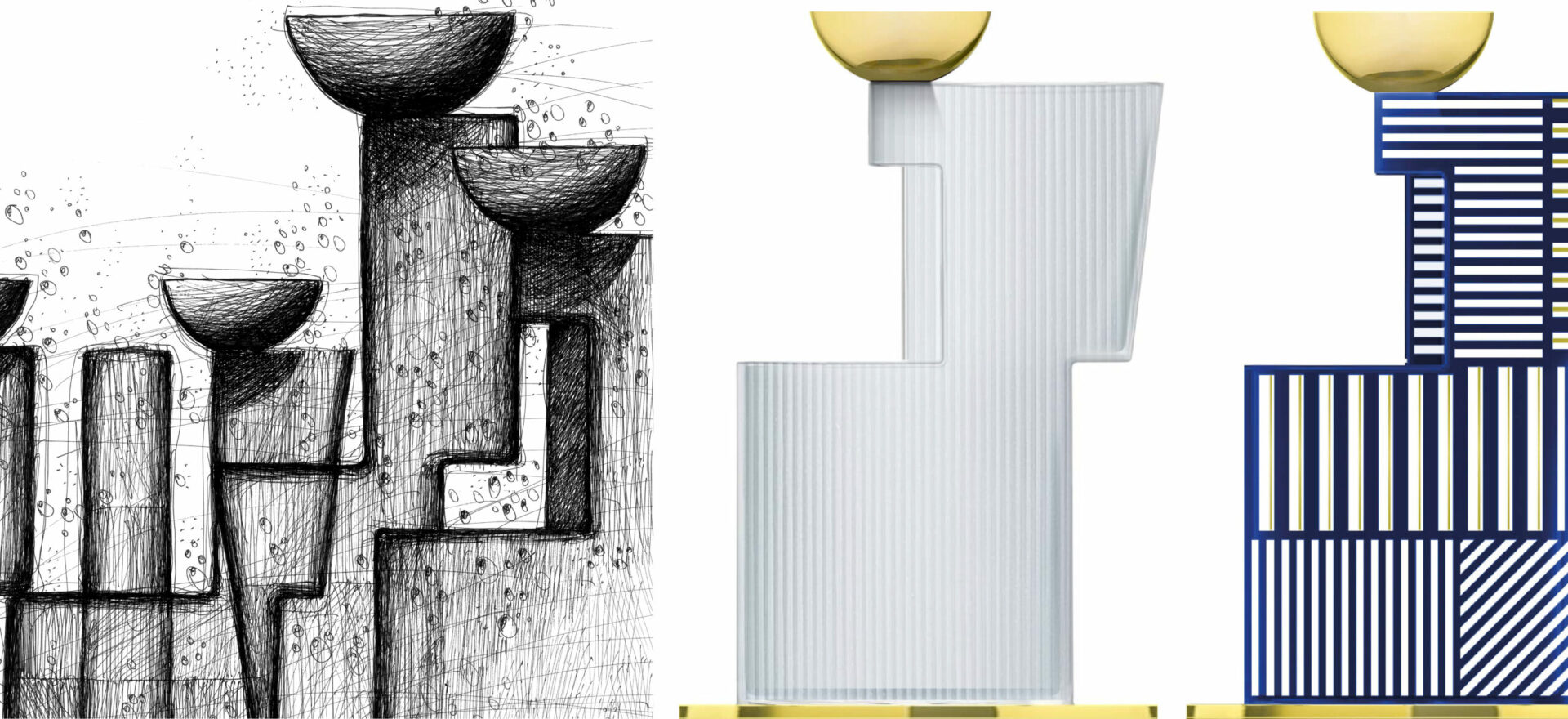 Water Tanks_Paşabahçe_Vases Collection_Drawing_Mario Trimarchi Design_Products Artwork