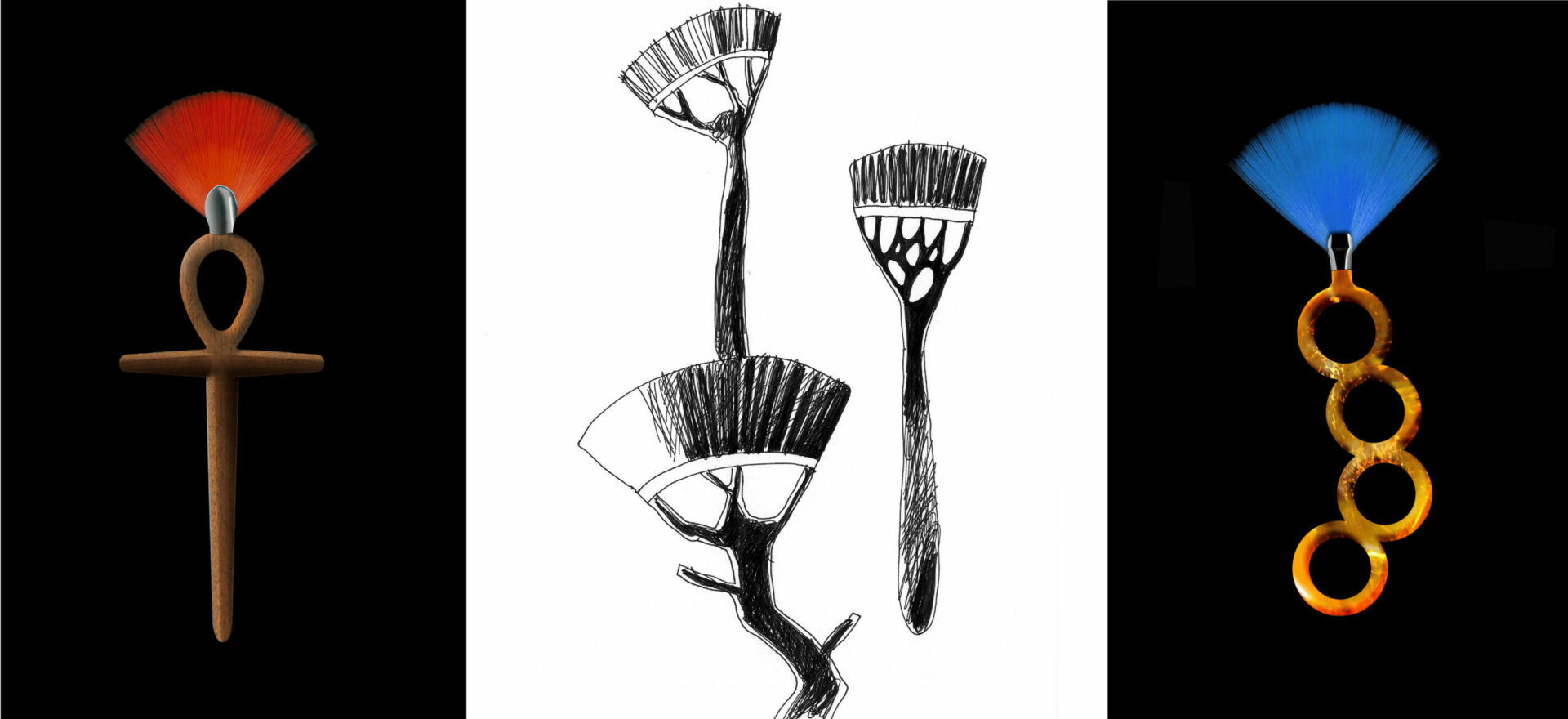 Yuubi brushes_Limited Collection_Drawing_Beauty design_Drawing_Mario Trimarchi Design_Products Artworks